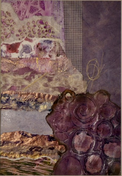 'The Colour Purple'  Mixed Media Collage 30 x 40 cm framed - SOLD